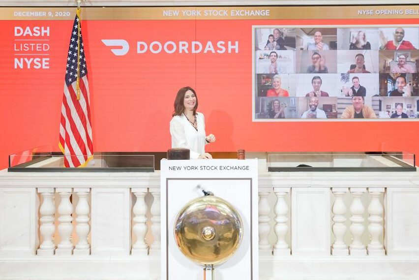 Acciones de Door Dash se incrementan un 80%