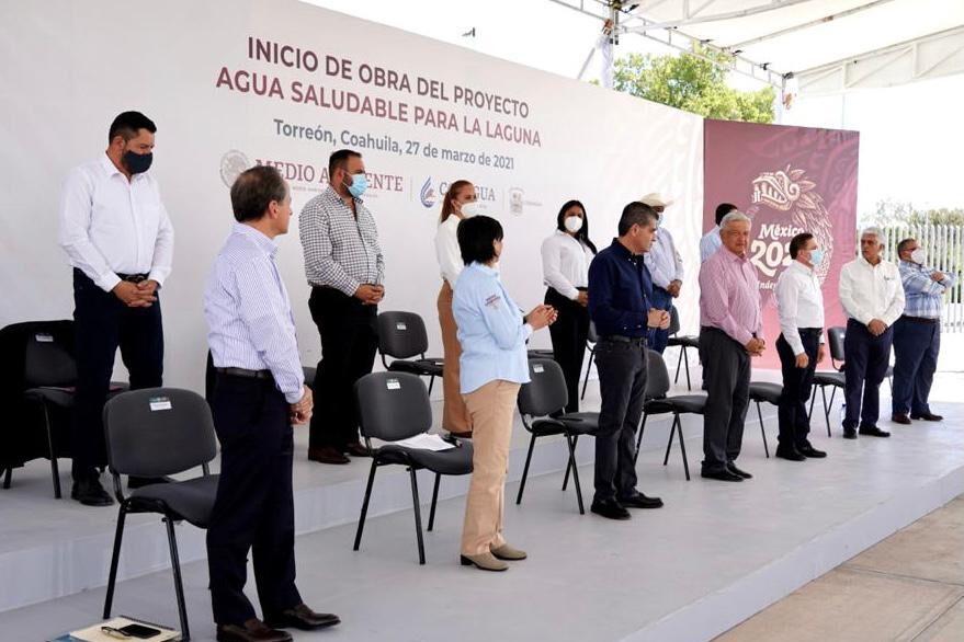 Agua Saludable para La Laguna en Coahuila: AMLO
