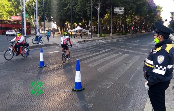 Primer Paseo Dominical Muévete en Bici, 23 KM