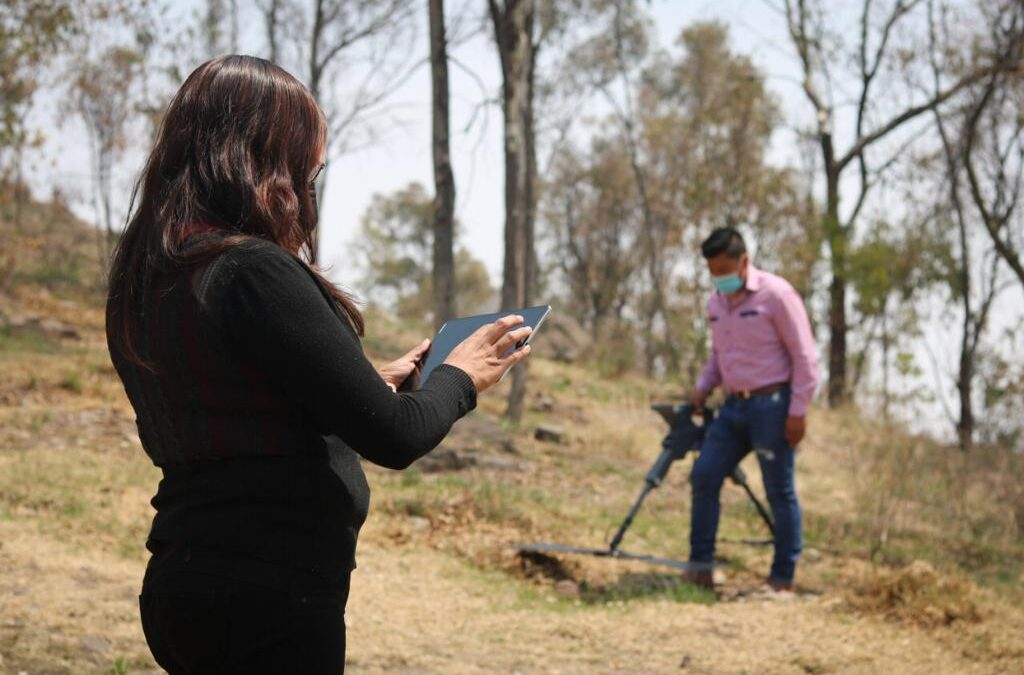 Aplican georradares para búsqueda de personas