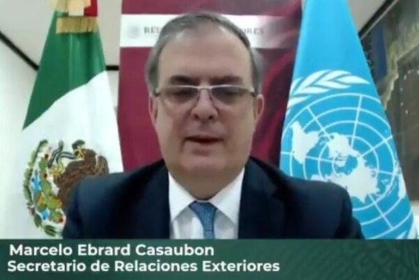 Ebrard asistió a reunión por el 75 aniversario de la ONU