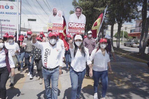 Gaby Moreno recorrió Agrícola Lázaro Cárdenas por campañas