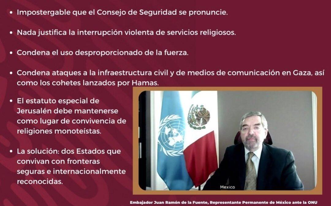 México participa en consejo de seguridad en la ONU