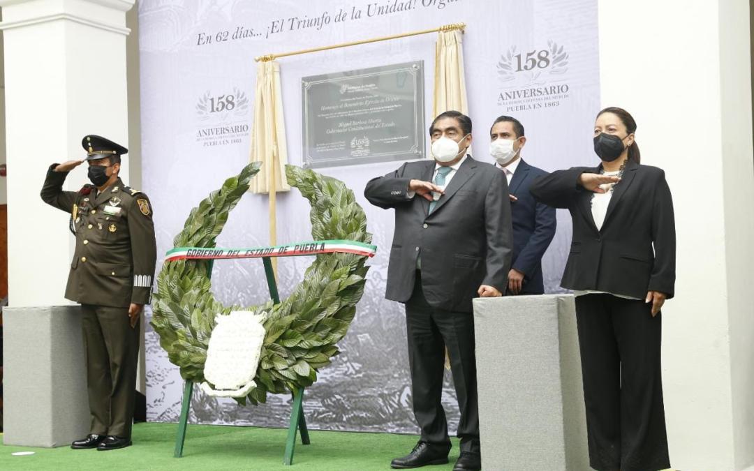 Conmemoran 158 aniversario de la defensa del Sitio de Puebla