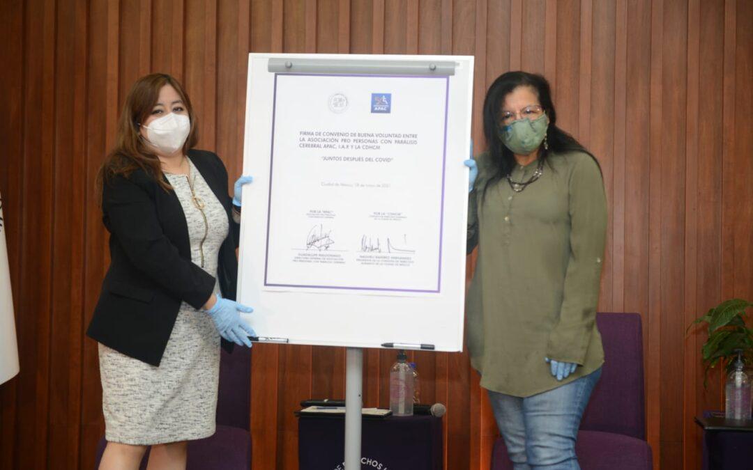 CDHCM firma convenio para rehabilitación de sus trabajadores