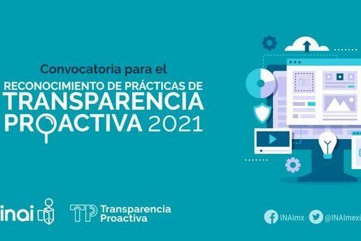 INAI reconocerá prácticas de transparencia proactiva