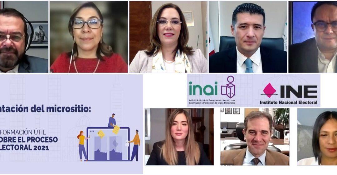 INE e INAI lanzan micrositio informativo para elecciones 2021