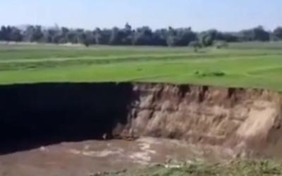 Autoridades poblanas investigan empresa de agua por socavón