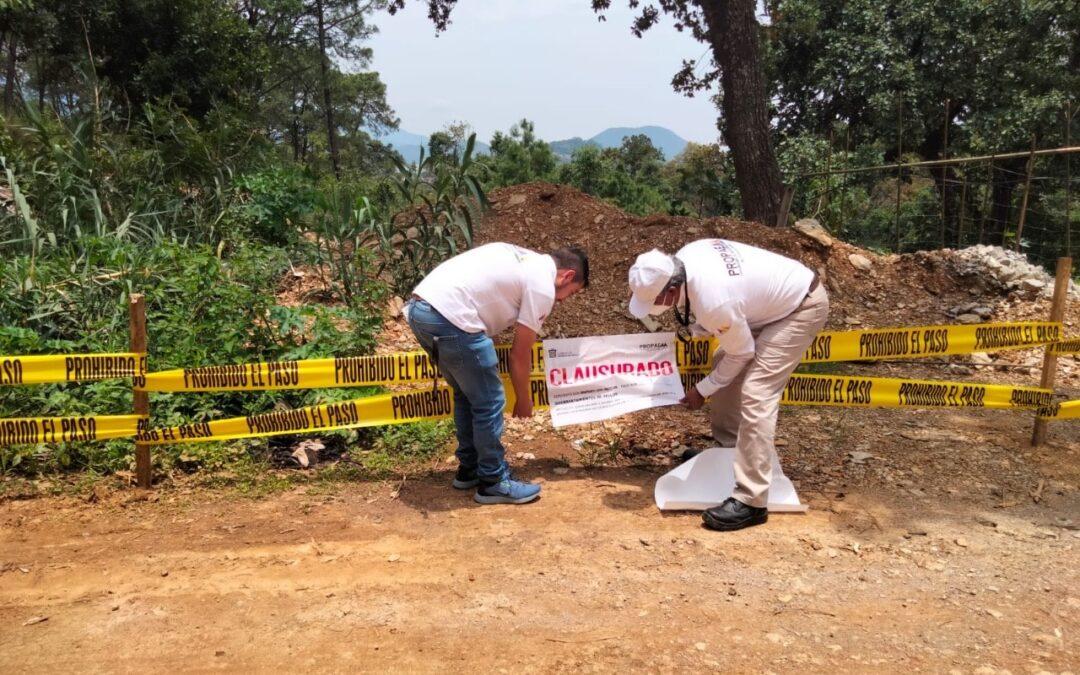 Clausuran construcciones en áreas naturales en Valle de Bravo