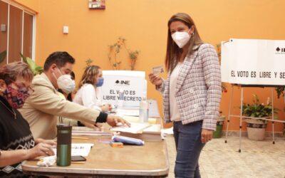 Evelyn Parra pide a ciudadanos ejercer su voto