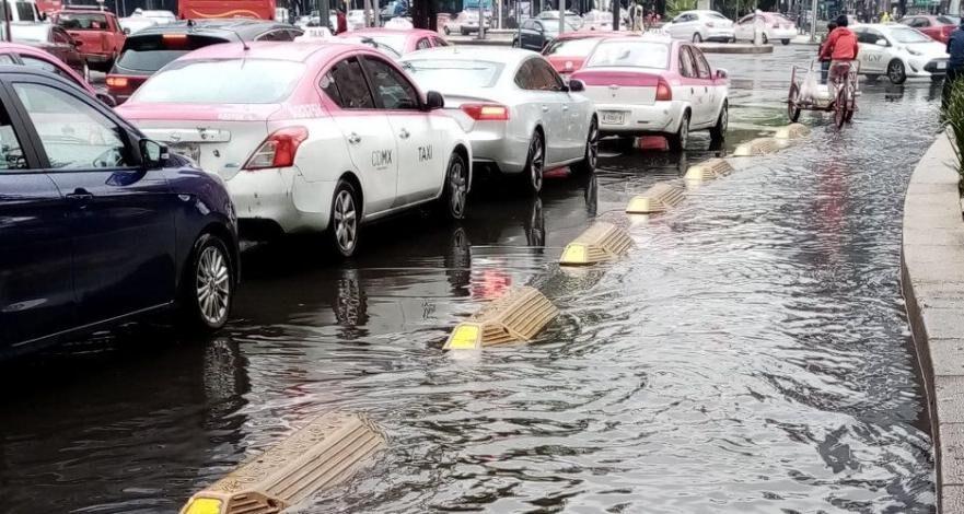 Se registra fuerte lluvia en distintos puntos de la CDMX