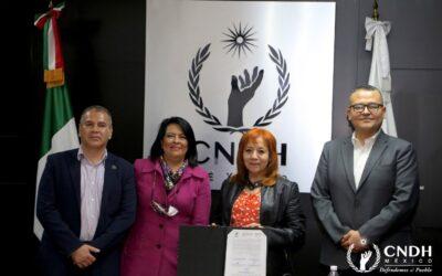 CNDH Y DIF Nacional firman convenio de colaboración
