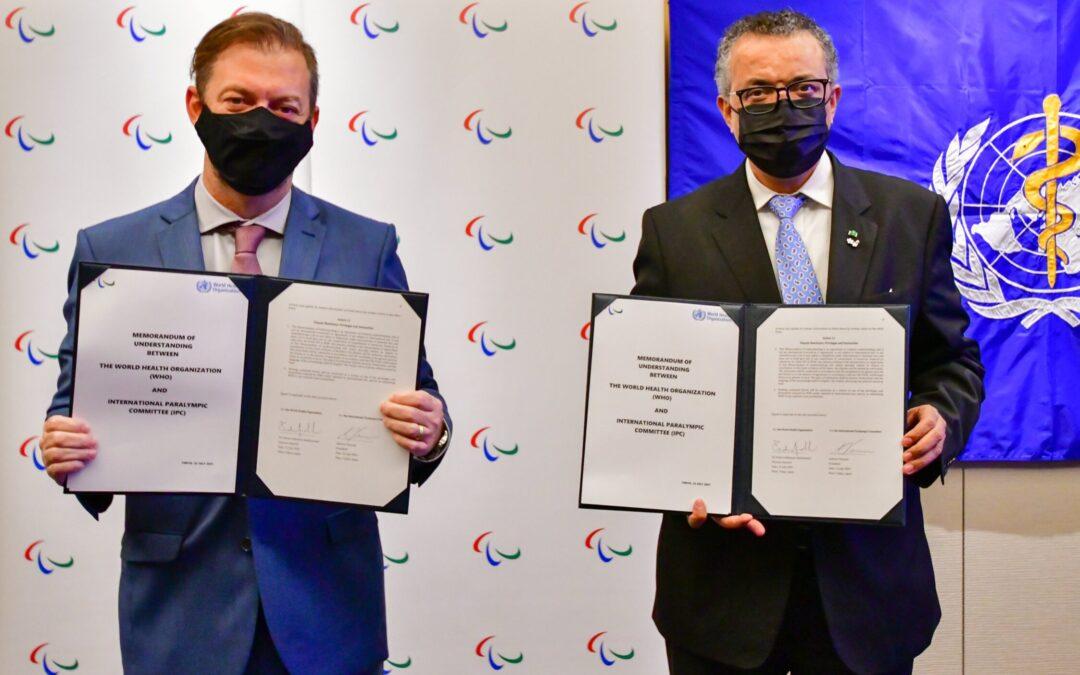 OMS firmó memorando con el Comité Paralímpico Internacional