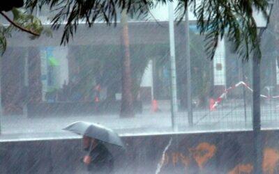 Llegó primer frente frío con lluvias, descargas eléctricas