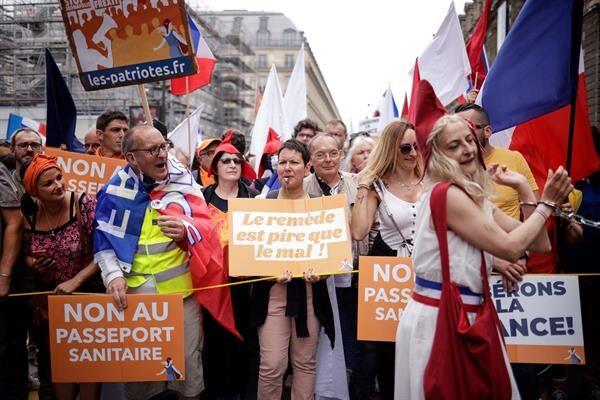 Protestas Francia Foto: EFE