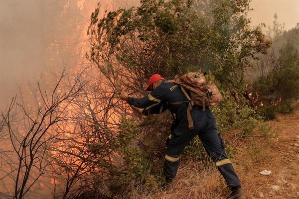 Incendio Eubea Foto: EFE