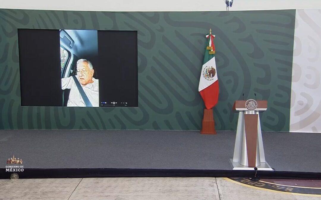 Conferencia de prensa de AMLO sin AMLO