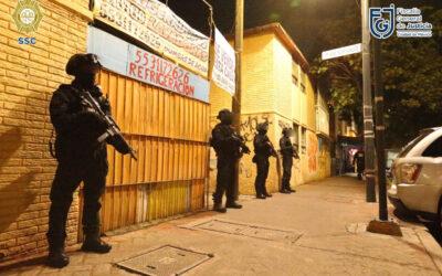 SSC realizó cateo por presuntas sustancias ilícitas en Coyoacán y Cuauhtémoc