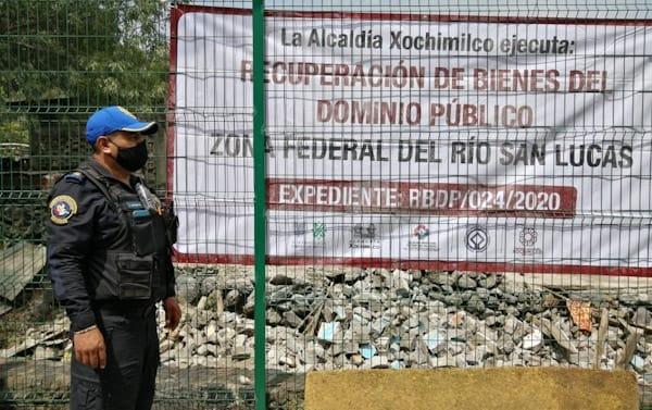 Recupera Xochimilco Derecho de Vía invadido por particulares