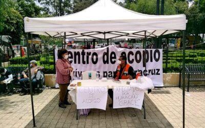 Xochimilco abre centros de acopio para damnificados en Veracruz