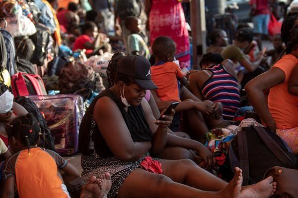 Migrantes haitianos Foto: EFE