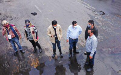 Advierten posible desbordamiento de aguas negras en Neza