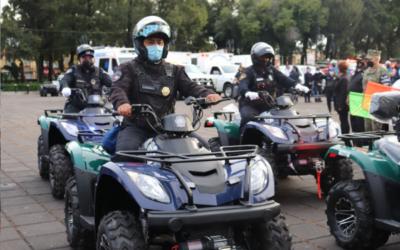 Xochimilco entregó motopatrullas a cuerpos de emergencia