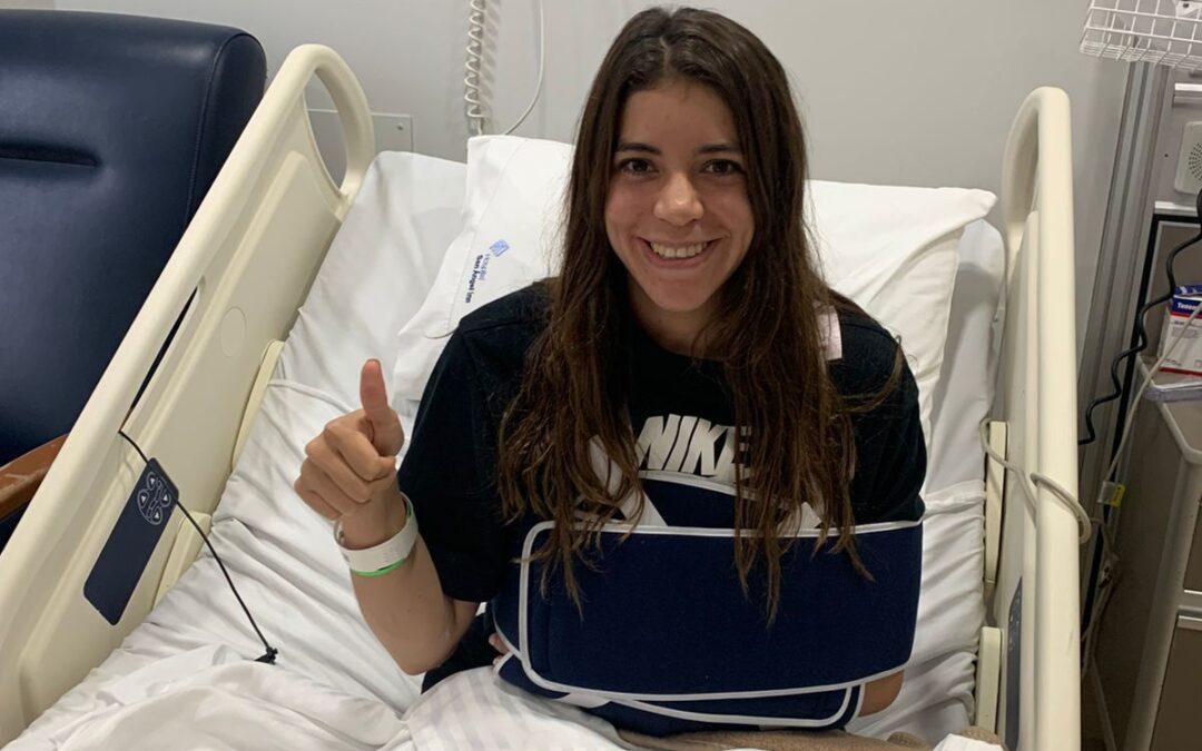 Alejandra Orozco se sometió a una cirugía de hombro