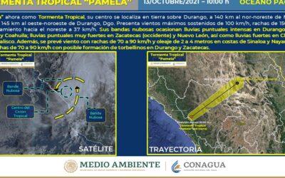 """Conagua: Tormenta tropical """"Pamela"""" toca territorio mexicano"""