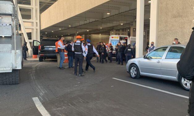Se reporta balacera en la terminal 2 AICM; hay dos heridos