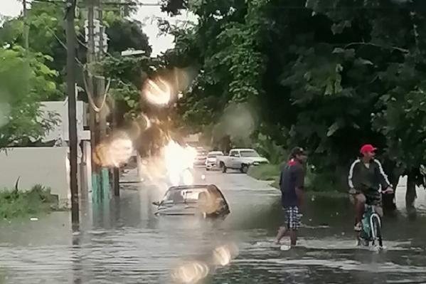 Fuertes lluvias causan estragos en Quintana Roo