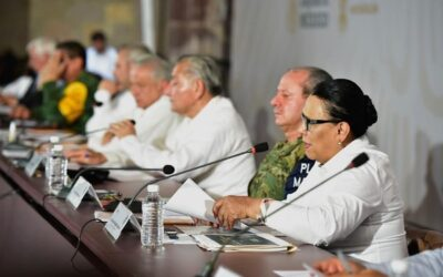 Rosa Icela: «Trabajamos para construir la paz en Aguililla»
