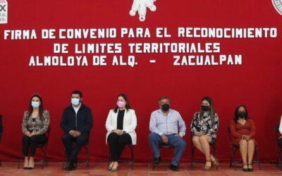 Firman Almoloya de Alquisiras y Zacualpan convenio de territorialidad