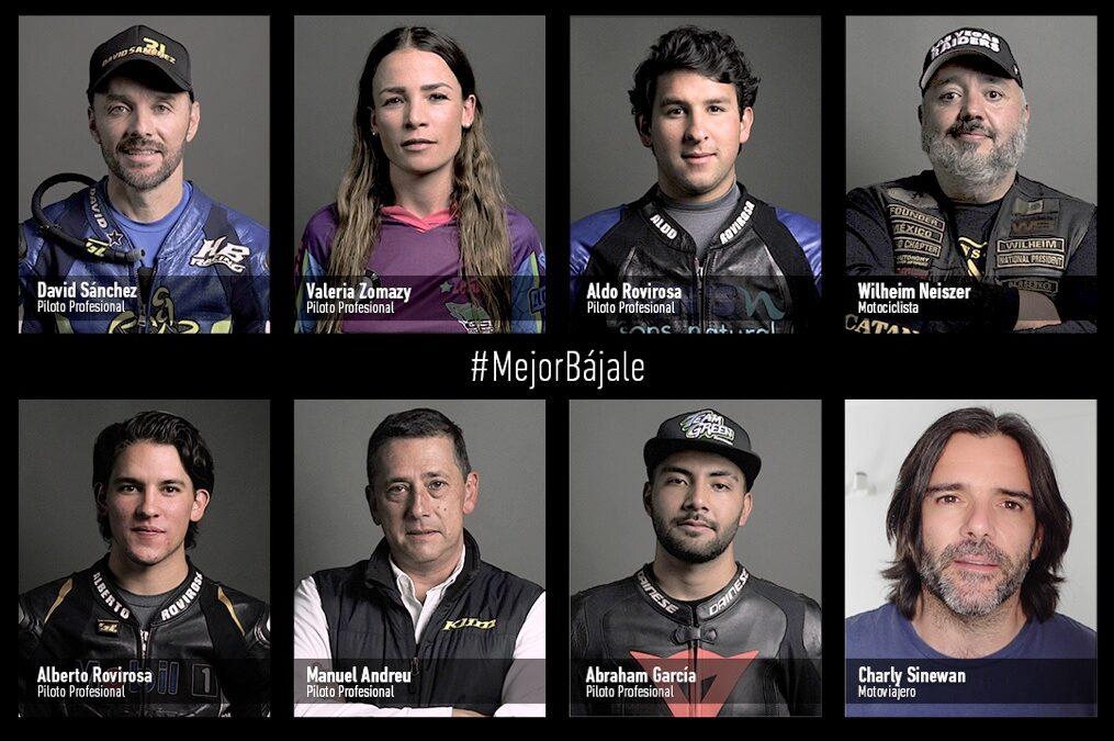 Se une la SCT al movimiento #MejorBájale para motociclistas